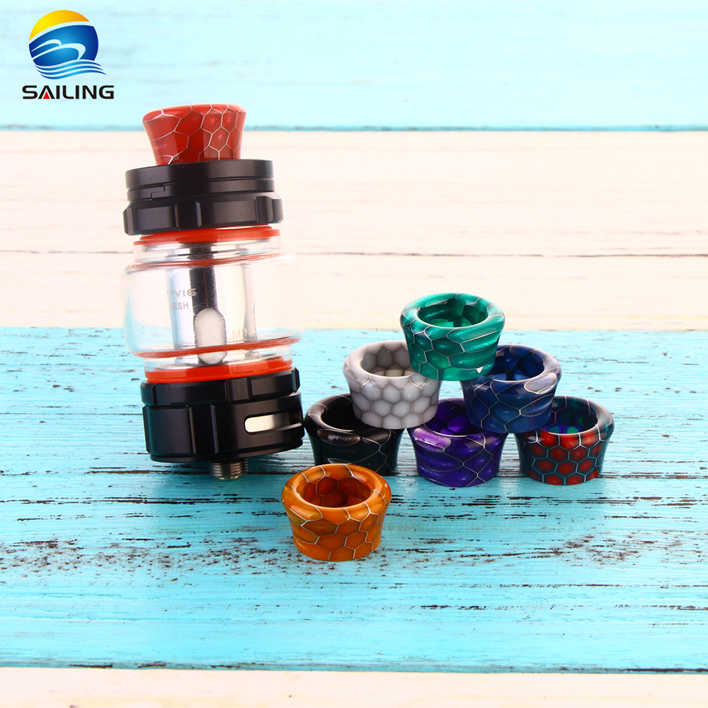 Epoxy Resin Snake  Pattern Drip Tips for  Smok TFV16
